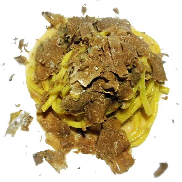 Course 4: Chef Mirko's Shaved White Truffle Pasta with Housemade Sausage in a Truffle Butter Cream Sauce
